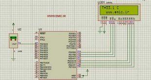 دماسنج با سنسور LM35 و میکرو AVR