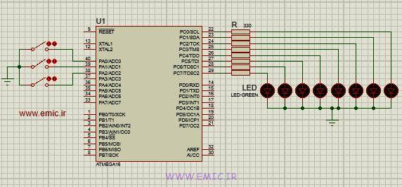 پروژه AVR رقص نور با کدویژن
