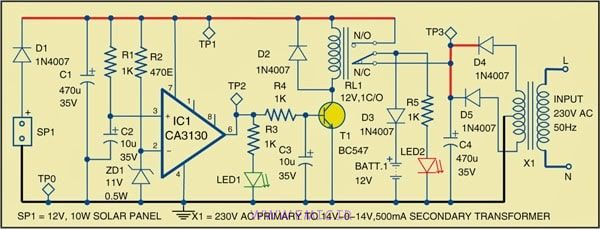 Hybrid-Solar-Charger-Circuit