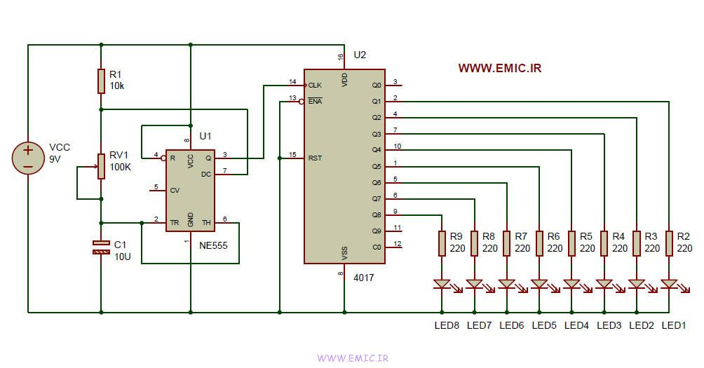 dancing-light-circuit-with-IC-4017-and-IC-555-emic