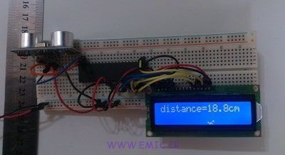 ico-SRF05&04-Test-with-avr-emic