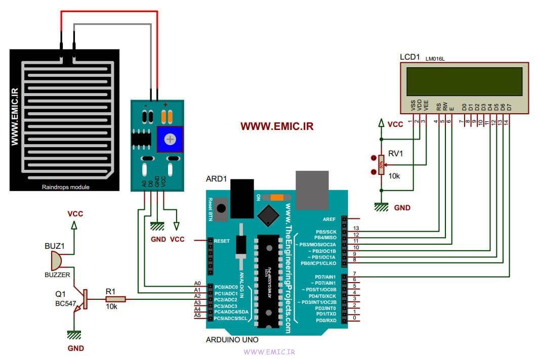 Arduino-prj-Raindrops-module-test-emic