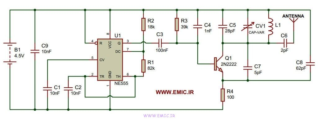 555-Tracking-Transmitter-circuit-emic