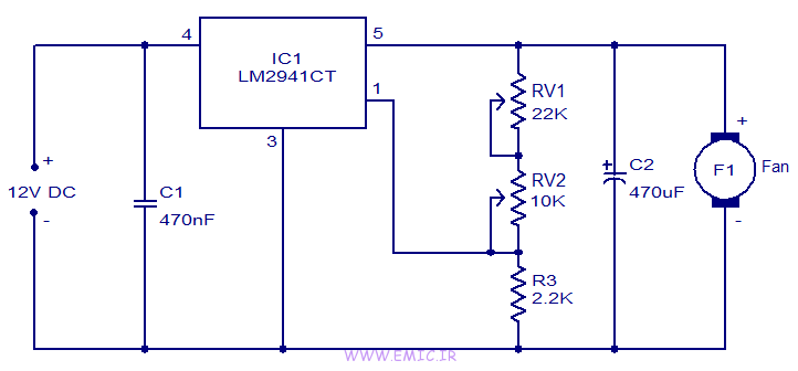 Fan-speed-controller-using-LM2941-emic