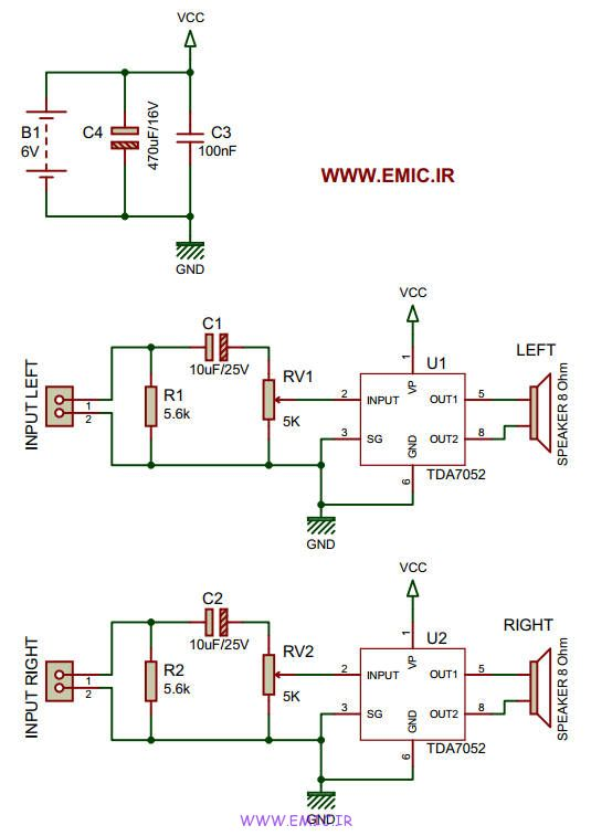 Stereo-Power-Amplifier-with-TDA7025-emic