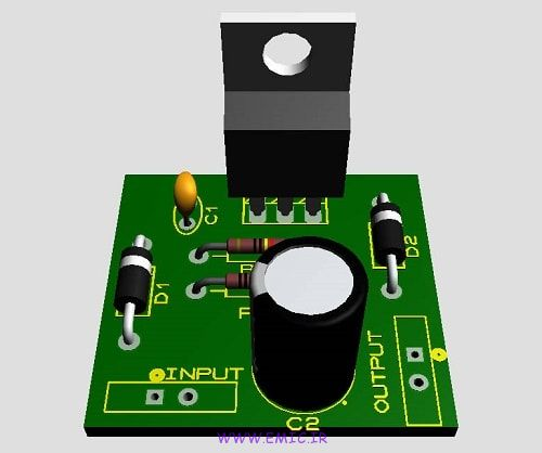 P-DC-to-DC-converter-using-LM317T-IC-emic