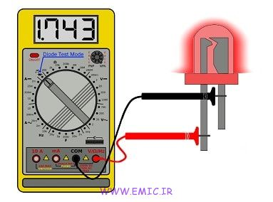 LED-Test-using-multimeter-emic