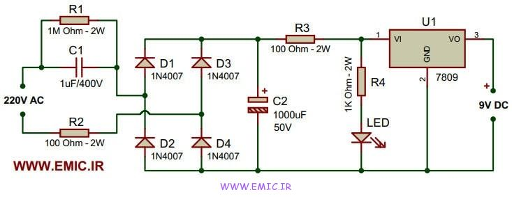 9V-power-supply-without-transformer-emic