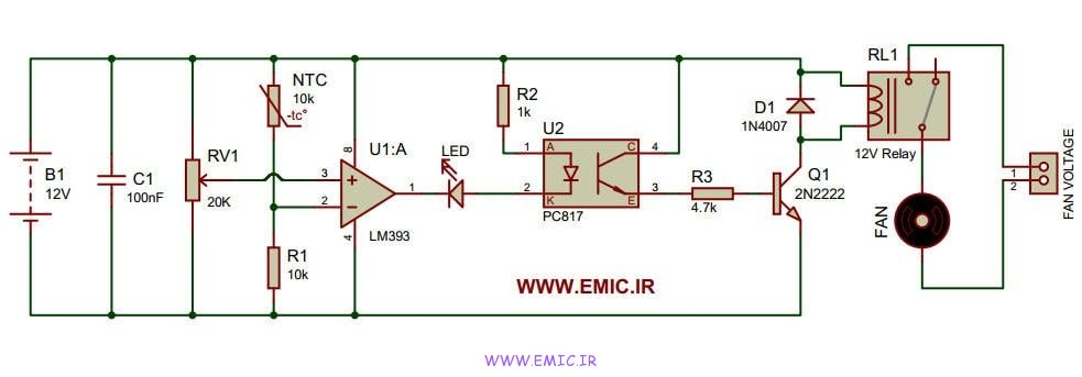 Automatic-cooler-fan-for-Power-supply-and-amplifiers-emic