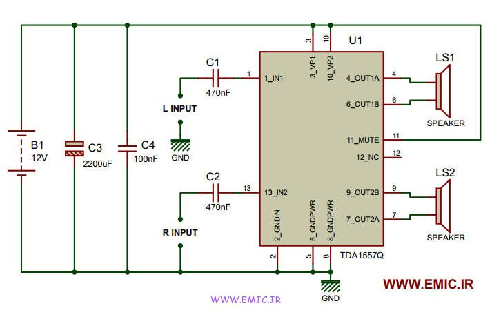 Amplifier-circuit-with-TDA1557Q-emic