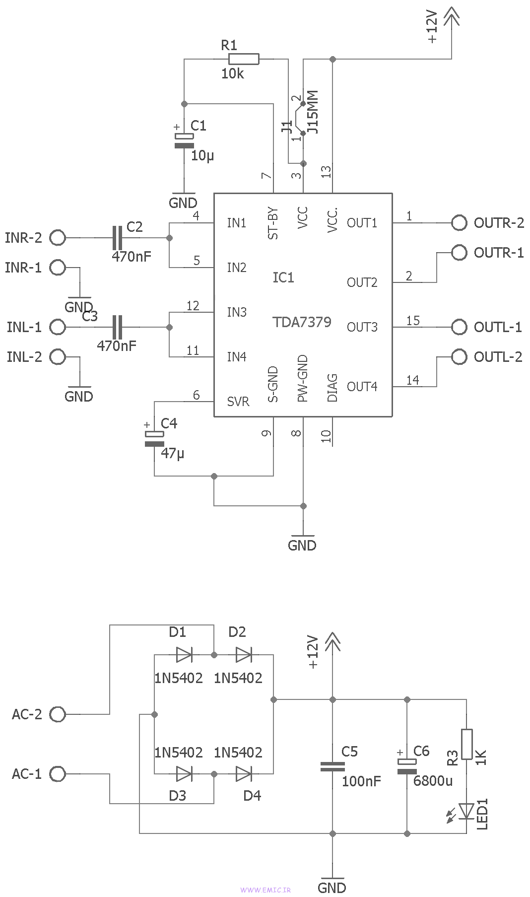 Circuit-stereo-power-amplifier-TDA7379