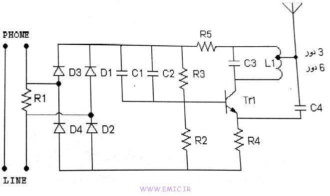 Fm-transmitter-circuit-for-home-phone