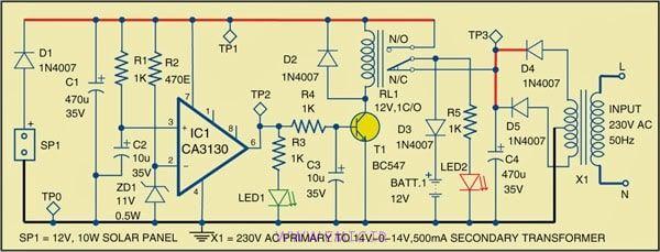 Hybrid-Solar-Charger-Circuit