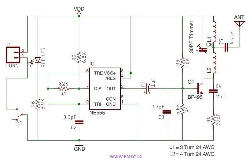 Cell-Phone-Signal-Jammer-Using-NE555-emic