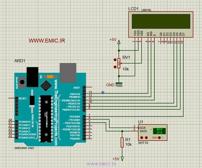 SH-SHT1X-Test-with-Arduino-emic