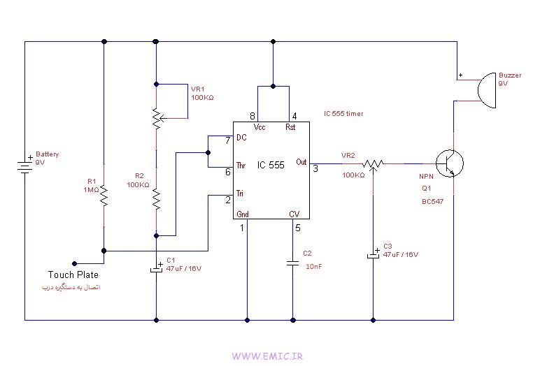 door-knob-touch-alarm-circuit