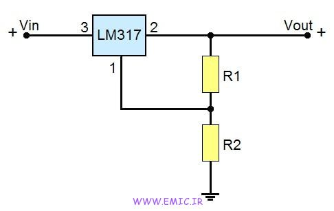 LM317 Variable Voltage Regulator-circuit-emic
