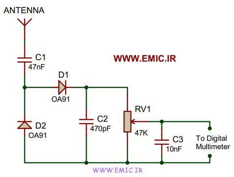Field-strength-meter-circuit-emic