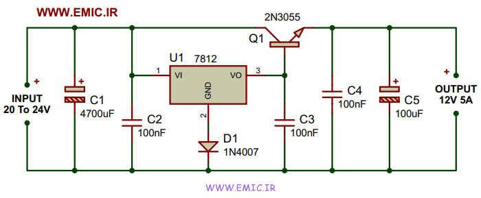 12V-5A-Power-Supply-With-LM7812-and-2N3055-emic