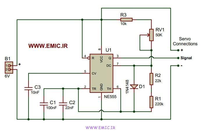 Servo-Motor-Controller-Using-555-IC-emic