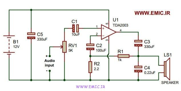 Simple-and-practical-10W-amplifier-circuit-emic