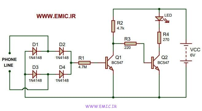 Telephone-in-use-indicator-circuit-emic